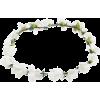 Stranded WHITE Flower Boho Style Women G - Cap -