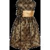 Strapless Lace Overlay Satin Bubble Prom Dress Black-Gold - Haljine - $99.99  ~ 635,19kn