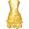 Strapless Satin Bubble Dress Prom Formal Holiday Party Cocktail Gown Bridesmaid Yellow - Dresses - $62.99