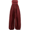 Strapless Flared Leg Jumpsuit - Other -