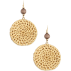 Straw Circle Drop Earrings - Kolczyki -