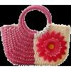 Straw Handle Bag - Hand bag -