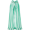 Striped Cotton-Voile Wide-Leg Pants - Capri & Cropped -