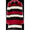 Striped fur coat - Jacket - coats -