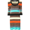 Striped knitted dress - Dresses -