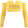 Striped knit top tube top - Camisas - $19.99  ~ 17.17€