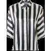 Styland Black & Silver Striped Blouse - Shirts -