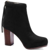 Suede High Ankle Boots in Blac - Buty wysokie -