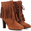Suede Ankle Booties - Boots -