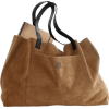 Suede Tote Bag - Hand bag -