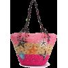 Summer Beach Straw Shoulder Bag - Hand bag -