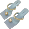 Summer Korean-style Clip-toe Pearl Sandals And Slippers Women's Beach Shoes - Sandale -