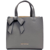 Suzy Levian Grey Pebbled Faux Leather Sa - Hand bag -