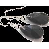 Swarovski Black Pendant Earrings - Brincos -