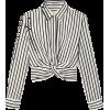 T By Alexander Wang Stripe Twist Top - Shirts -