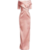 TERI JON satin dress - Obleke -