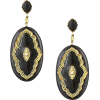 THE BOHEMIAN Pewter and black victoria e - Earrings - $101.00