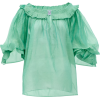 THIERRY COLSON Roussia cotton-blend blou - Long sleeves shirts -