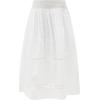 THIERRY COLSON Verde smocked cotton-voil - Skirts -