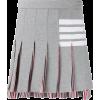 THOM BROWNE 4-BAR MINI PLEATED SKIRT - Skirts -