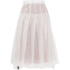THOM BROWNE striped pleated skirt - Spudnice -