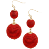THREAD WRAPPED DOUBLE BALL EARRINGS - Aretes - $8.00  ~ 6.87€