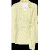 TIBI Checked wool-blend wrap blazer - Trajes - 750.00€
