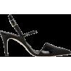 TIBI Eli Black Patent Leather Slingback - サンダル -