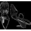 TIBI Eli Black Patent Leather Slingback - Sandálias -
