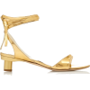 TIBI gold metallic leather sandal - Sandały -