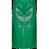 TIBI high waist crocodile-effect skirt - Skirts -