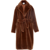 TIBI large faux fur belted coat - Suits -