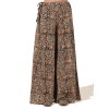 TJORI Multicolor Kalamkari Cotton Palazz - Capri hlače -