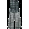 TOGA PULLA Checkered print sheer wide le - Capri hlače -