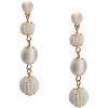 TONAL WHITE BALL DROP EARRINGS - Earrings -