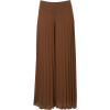 TOPSHOP BROWN PLEATED EXTREME WIDE LEG T - Capri & Cropped -