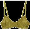TOPSHOP Olive Lace Bra - Biancheria intima -