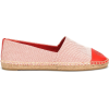 TORY BURCH Canvas and leather espadrille - Klinów -