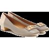TORY BURCH Gigi leather and suede pumps - Balerinke -