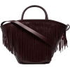 TRADEMARK burgundy leather fringed tote - Hand bag -