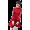 TREND 2019 RED DRESS SLEEVES LANTERN GRI - Uncategorized -