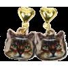 Tabby Cat Earrings - Aretes - $7.11  ~ 6.11€