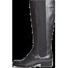 Tall Leather Boots - Čizme -