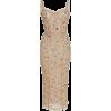 Tan Embellished Dress - Vestiti -