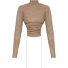 Tan Faux Leather Top - Other -