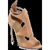 Tan Open Heel - Klassische Schuhe -