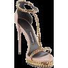 Tan and Gold Sandal - Scarpe classiche -