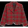 Tartan Blazer - Jacket - coats -