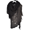 Tattered Grey Poncho - Scarf -