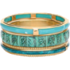 Teal Bangle Bracelet - Zapestnice -